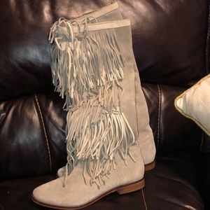 Zara Fringe Knee High Boots